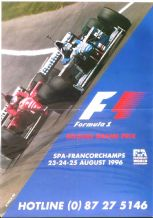 "BELGIAN GP 1996 (SPA)   Poster 23.5 x 16.5"" ( 520 x 402mm)"